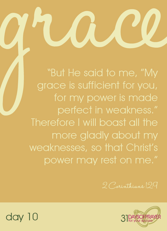 grace, family matters, 31 days of prayer for your spouse, stacy edwards