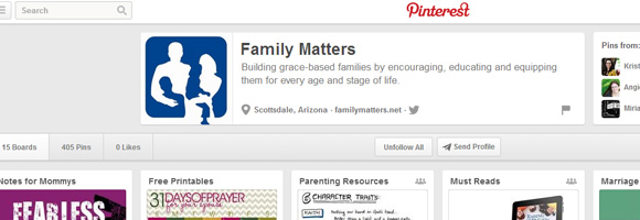 Pinterest, Family Matters, Resource of the Month, Grace Based Parenting